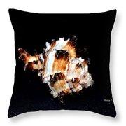 Puff Fish Seashell Throw Pillow