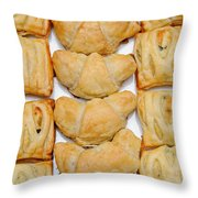 Puff Pastry Party Tray Pano Throw Pillow