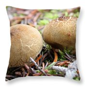 Puffballs Throw Pillow