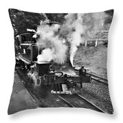 Puffing Billy Black And White Throw Pillow