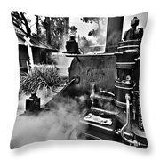 Puffing Billy Black And White V2 Throw Pillow