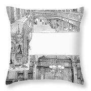 Pullman: Arcade, C1885 Throw Pillow