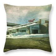 Pullman's Restaurant Throw Pillow by Joel Witmeyer