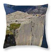 Pulpit Rock Throw Pillow