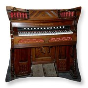Pump Organ Throw Pillow