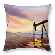 Pumping For Gold Throw Pillow