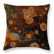 Pumpkin Abstract Square Throw Pillow