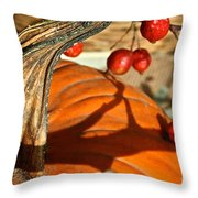 Pumpkin Berries Throw Pillow