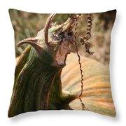 Pumpkin Curling Ribbon Throw Pillow