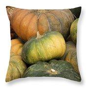 Pumpkin Farm Throw Pillow