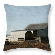 Pumpkin Farm Throw Pillow