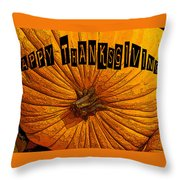 Pumpkin Holiday Throw Pillow