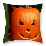 Pumpkin Man Throw Pillow