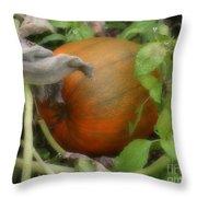 Pumpkin On The Vine Throw Pillow