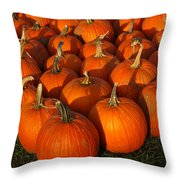Pumpkin Strike Throw Pillow