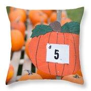 Pumpkins For Sale II Throw Pillow