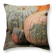 Pumpkins Galore V1 Throw Pillow
