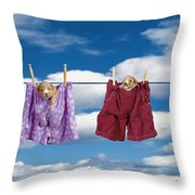 Puppies Hanging Out Throw Pillow