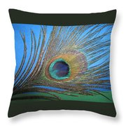 Purdy As A Peacock Throw Pillow