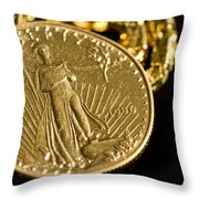Pure As Gold Throw Pillow