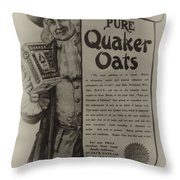 Pure Quaker Oates Throw Pillow