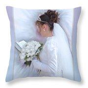 Pure Spotless Bride Throw Pillow