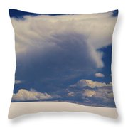 Pure White Sand And Mountain Storms Throw Pillow