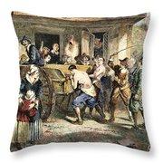 Puritans: Punishment, 1670s Throw Pillow
