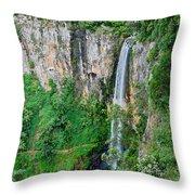 Purlingbrook Falls In Australia Throw Pillow