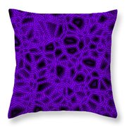 Purple And Blue Abstract Throw Pillow