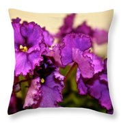 Purple And More Purple Throw Pillow