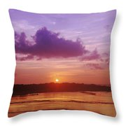 Purple And Orange Sunset Throw Pillow