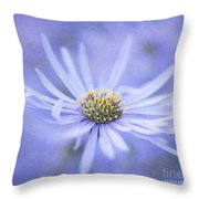 Purple Aster Flower Throw Pillow