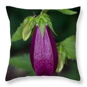 Purple Bell Flower Throw Pillow
