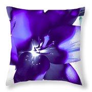 Purple Blast Throw Pillow