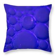 Purple Bubbles Throw Pillow