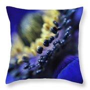 Purple Bulb Flower Throw Pillow