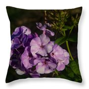 Purple Cluster Of Flowers Throw Pillow