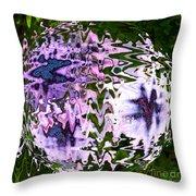 Purple Daisies World - Abstract Art Throw Pillow