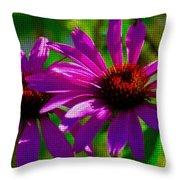 Purple Daisy's Throw Pillow
