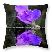 Purple Elegance - Spider Wort Throw Pillow