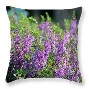 Purple English Garden  Throw Pillow