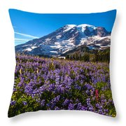 Purple Fields Forever Throw Pillow