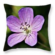 Purple Flower 1 Throw Pillow