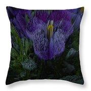Purple Flower Springs Throw Pillow