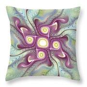 Purple Fractalishus Throw Pillow