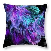 Purple Fusion Throw Pillow