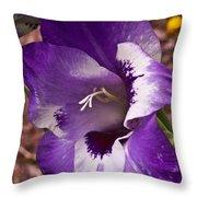 Purple Gladolia Throw Pillow