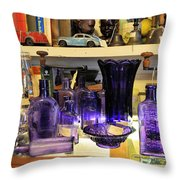 Purple Glass Collection Throw Pillow
