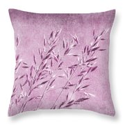 Purple Gras Throw Pillow
